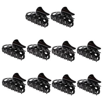 10 Pieces Black Hair Claw Clip Butterfly Jaw Clamp Hairpin Hair Accessories