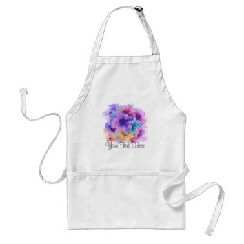Violets Gone Wild Adult Apron
