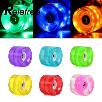 Relefree LED Flash Cruiser Skateboard PU Wheel For Street Skate Long board Board