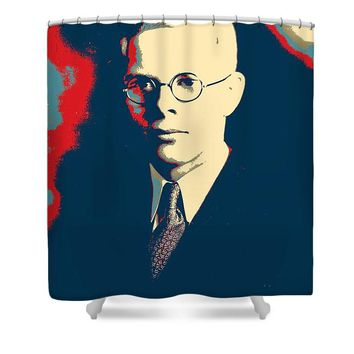 Portrait Of A Youth 63 By Adam Asar - Shower Curtain