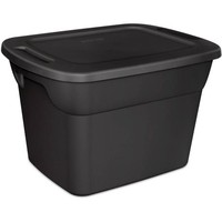 Sterilite 18 Gallon Tote Box- Recycled- Black (Available in Case of 8 or Single Unit) - Walmart.com