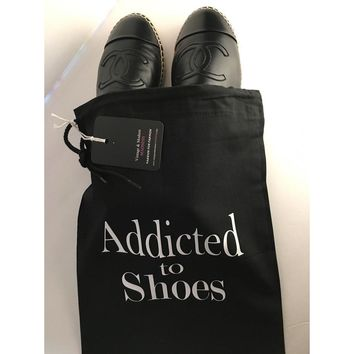Addicted To Shoes String Dust Bag Travel Bag WHITE