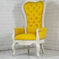 riviera wing chair with arms natural finish