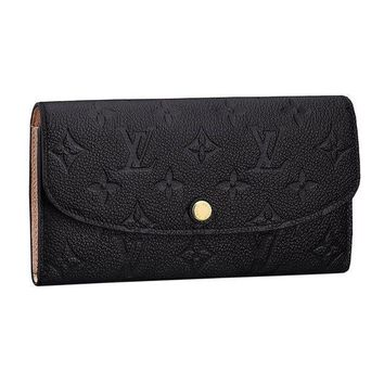 DCCK1 Louis Vuitton Monogram Empreinte Leather Emilie Wallet Noir Article: M62369