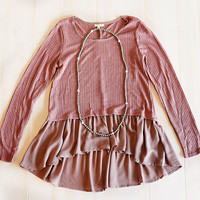 Full Of Grace Tunic Burgundy