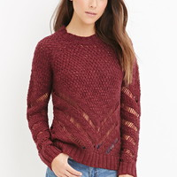 Contemporary Chevron-Patterned Sweater