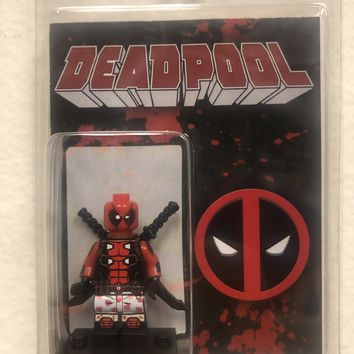 Block Minifigure Deadpool  Pajama Pants