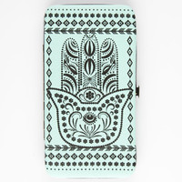 Hamsa Hinged Wallet Mint One Size For Women 26123452301