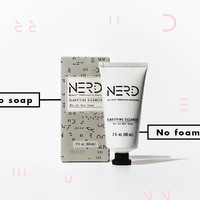 NERD Skincare Clarifying Cleanser for Acne, Sensitive Skin - Yogurt Probiotics, Soy Protein, Vitamin A,E,K & Omega 3, 6 - 100% Plant Derived