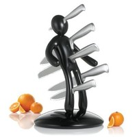 THE EX Kitchen Knife Set by Raffaele Iannello, Black:Amazon:Kitchen & Dining