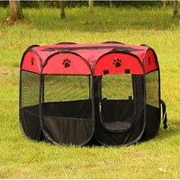 Pet Cage Supplies 600D Oxford Dog Carrier Dog Playpen For Dog Cat Fence Kennel Dog House Outdoor Cat House Playpen Exercise