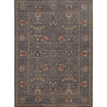 Tommy Bahama Area Rugs 748679394227 Vintage 534K2 Blue and Gold Rectangular: 2 Ft. 7 In. x 9 Ft. 4 In. Rug - (In Rectangular)