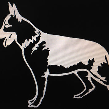 Dog Breed German Shepherd Vinyl Decal Sticker Custom Vehicle Auto Decal