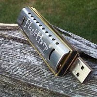 USB Harmonica flash drive 4GB FlashHarp by BackyardBrand on Etsy