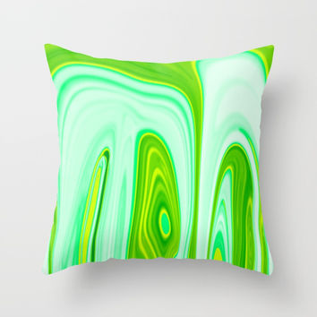 Abstract Fluid 10 Throw Pillow by Arrowhead Art