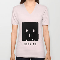 Play Me  V-neck T-shirt by Antoine's  Vision