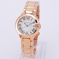 Cartier New Luxury Quartz Casual Fashion Women Wristwatch Watch