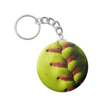 Fastpitch Softball Seam Keychain from Zazzle.com
