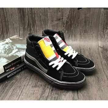 Vans OLD SKOOL Black Sk8-Hi 1966 Top Women Sneaker Flats Shoes Canvas Sport Shoes