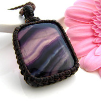 Fluorite Necklace / Fluorite / Fluorite jewelry / Purple  / Yoga Gift / Healing Stones and crystals  / For Her / Spiritual jewelry / gift
