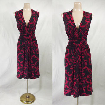 NORMA KAMALI Red & Black Wrap Jersey Dress XXL 2X