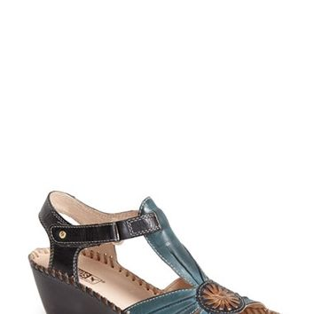 "Women's PIKOLINOS 'Margarita' Leather Wedge Sandal, 2 1/2"" heel"