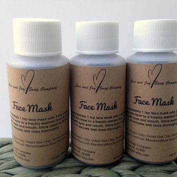 Face Mask- Activated Charcoal- Marshmallow Root- Bentonite Clay- Kaolin Clay