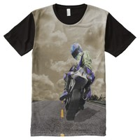 Moto All-Over Printed T-Shirt All-Over Print T-shirt
