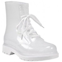 TIFFANY WHITE CLEAR TRANSLUCENT COMBAT BOOT