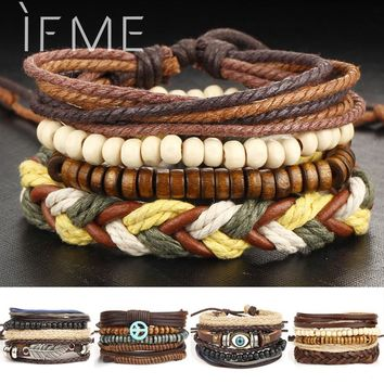 Set of Leather Bracelets for Men - 5 Styles to Choose From