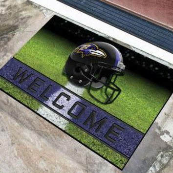 Baltimore Ravens Door Mat 18x30 Welcome Crumb Rubber