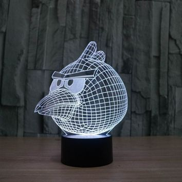 FS-2842 Amazing 3D Illusion led Table Lamp Night Light with game bird shape
