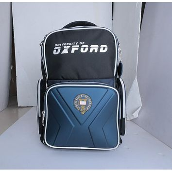 University Of OXFORD children/kid elementary orthopedic school bag books shoulder school bag for boys grade 2-6