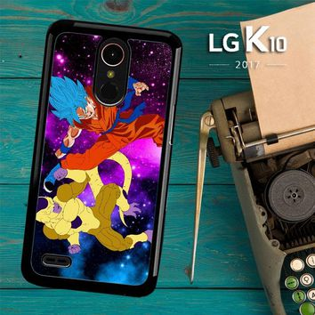 Gold Frieza Vs Goku Super Saiyan God Z2615 LG K10 2017 / LG K20 Plus / LG Harmony Case