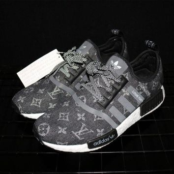 DCK7YE Adidas NMD x Louis Vuitton Boost Black Sneakers