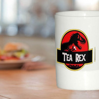 Tea Rex Dinosaur Novelty Coffee Tea Mug Cup Gift Jurassic Park Inspired Movie amazing mug gift