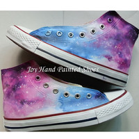 Galaxy Converse Customizable Galaxy Converse Shoes for Women Men Hand Painted Fashion Canvas Shoes Custom Hand Painted High Top Sneaker