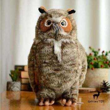 Big Owl Stuffed Animal Plush Toy 14""