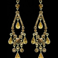 Gipsy Drop Earrings in Gold – bandbcouture.com