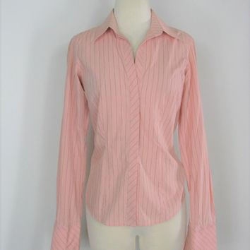 French Cuff Double Cuff Button Down Thomas Pink Dress Shirt 4/6