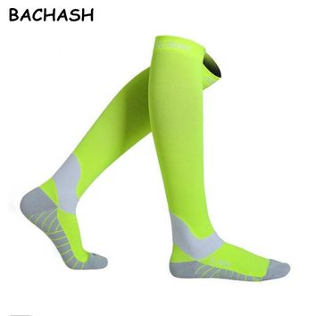 Compression Stock For Outside Solid Fashion Men Women Black Riding Color Long Socks Christmas Gift