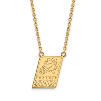 NBA Phoenix Suns Large Pendant Necklace in 10k Yellow Gold - 18 Inch