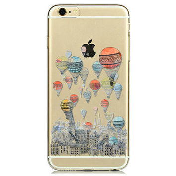 Ultra Soft TPU Transparent Painted Phone Case Cover Shell For iPhone 6/6s