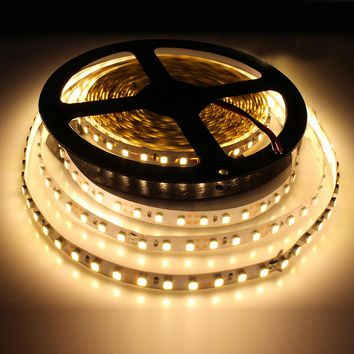 Tanbaby Led Strip lights 5M 600 LED DC12V SMD3528 120led M Non-waterproof flexible led tape rope indoor home lighting backlight