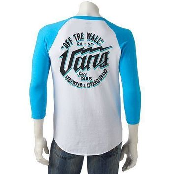 Men's Vans Off The Wall Graphic Raglan 3/4 Sleeve T-Shirt -Size XL/L/M - NWT