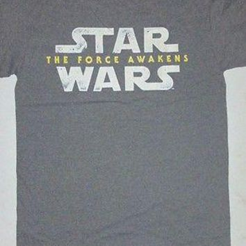 New STAR WARS THE FORCE AWAKENS  T  SHIRT  Officially Licensed Apparel logo