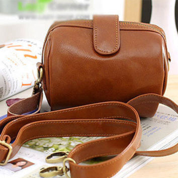 Korean Lovely Vintage Camera Shape Stylish One Shoulder Bags [6582581575]