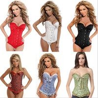 Summer Fashion Corset Sexy Lingerie Steel Over bust Corsets (pls choose one size larger than yourself size) = 1929726340
