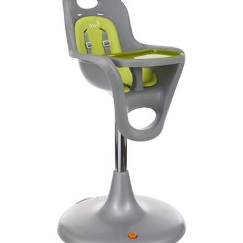 Gray & Green Adjustable High Chair & Seat Liner