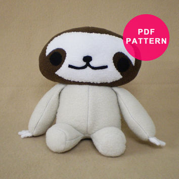 Plushie Pattern - Plush Sloth Toy PDF